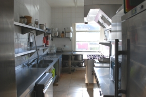 Kitchen at The Emperor Pub - available for hire with function room.